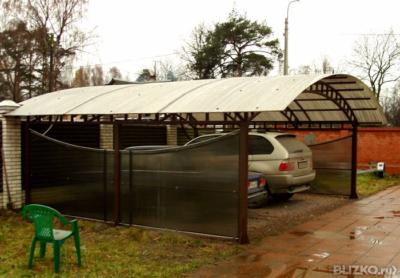 Навес из поликарбоната купить цена в городе Пенза. Цена товара 24 900 руб./шт., в наличии - на портале BLIZKO