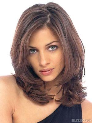 Форма стрижки для волос средней длины