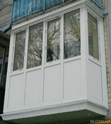 Остекление балкона пвх полутеплое schmitz трехкамерный в омс.