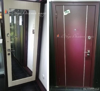 входные двери с большим зеркалом цена