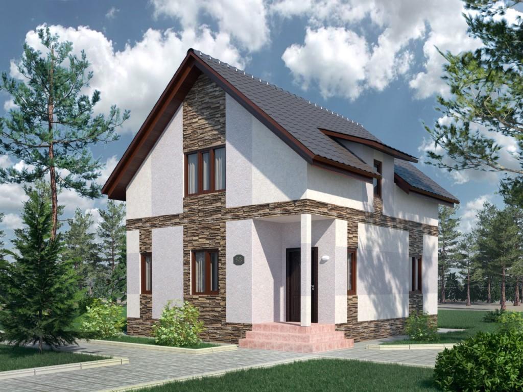Проекты загородных домов из газобетона фото