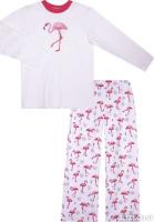 f0c500e8039ac Пижама для девочки КотМарКот Фламинго, цвет: светло-розовый. 10219. Размер